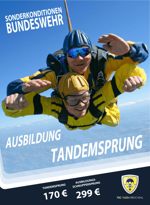 Fallschirmspringen Bundeswehr Bruchsal